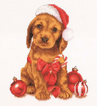 click here to view larger image of Christmas Puppy (counted cross stitch kit)