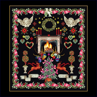 click here to view larger image of Christmas Design (on Black) (counted cross stitch kit)