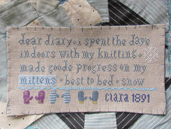 click here to view larger image of Clara's Knitting Sampler 1891 (chart)