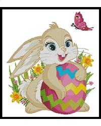 click here to view larger image of Cute Easter Bunny (chart)