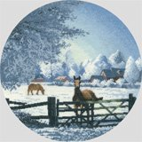 click here to view larger image of Hard Frost  - the Circles (counted cross stitch kit)