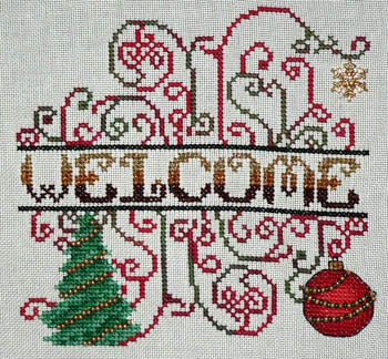 click here to view larger image of Christmas Welcome (chart)
