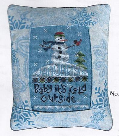 click here to view larger image of January - Baby It's Cold Outside - Medium Pillow Kit (counted cross stitch kit)