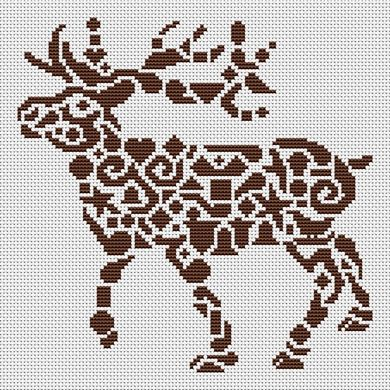 click here to view larger image of Tribal Reindeer (chart)