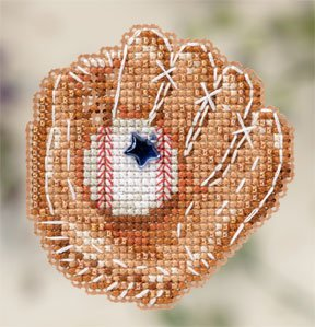 click here to view larger image of Baseball Mitt (2012) (counted cross stitch kit)
