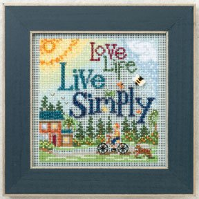 click here to view larger image of Live Simply (2012) (counted cross stitch kit)