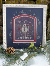 click here to view larger image of Black Snowman (counted cross stitch kit)