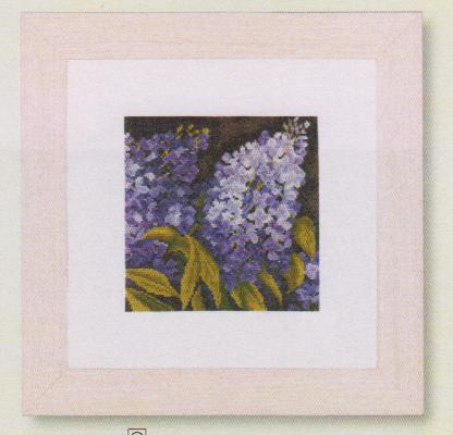 click here to view larger image of Lilac (14ct) (counted cross stitch kit)
