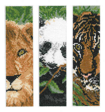 click here to view larger image of Wild Animal Bookmarks (chart)
