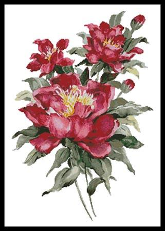 click here to view larger image of Red Peonies (chart)