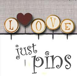 click here to view larger image of Just Pins - L is For Love (pin)