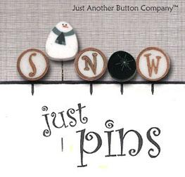 click here to view larger image of Just Pins - S is for Snow (pin)