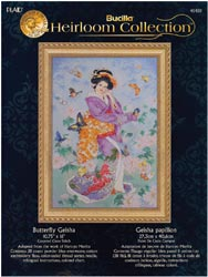 click here to view larger image of Butterfly Geisha - Heirloom Collection (counted cross stitch kit)
