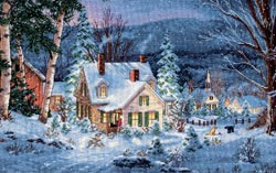 click here to view larger image of Winters Hush (counted cross stitch kit)