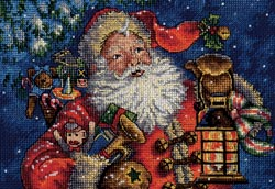 click here to view larger image of Nighttime Santa (counted cross stitch kit)