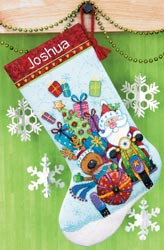 click here to view larger image of Santas Sidecar Stocking (counted cross stitch kit)