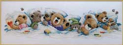click here to view larger image of Sleepy Bears (counted cross stitch kit)
