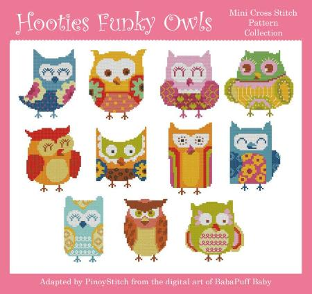 click here to view larger image of Hooties Funky Owls (chart)