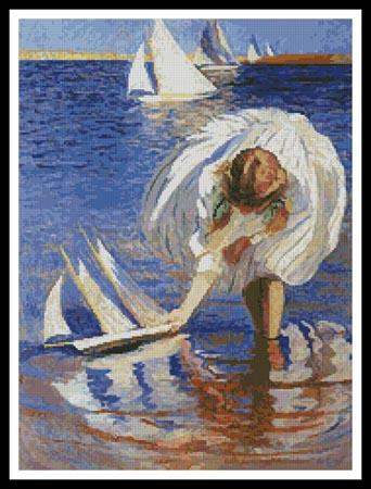 click here to view larger image of Girl with a Sailboat  (Edmund Tarbell) (chart)
