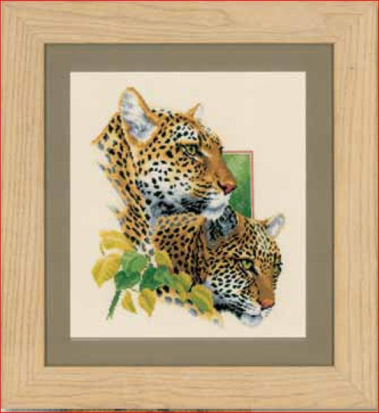 click here to view larger image of Leopard Couple (counted cross stitch kit)