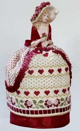click here to view larger image of Cecelia - A Romantic Pincushion Doll (chart)