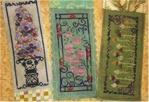 click here to view larger image of Flower Bookmark Set/Rambling Roses (chart)