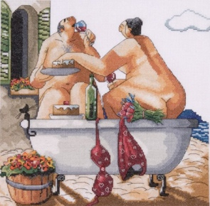 click here to view larger image of Bathing Beauties (counted cross stitch kit)