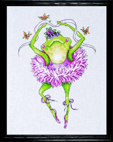 click here to view larger image of Frog Dancer (counted cross stitch kit)