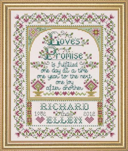 click here to view larger image of Love's Promise (counted cross stitch kit)