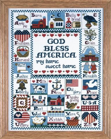 click here to view larger image of God Bless America (counted cross stitch kit)