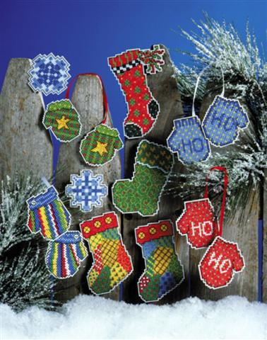 click here to view larger image of Hats and Mittens (counted cross stitch kit)