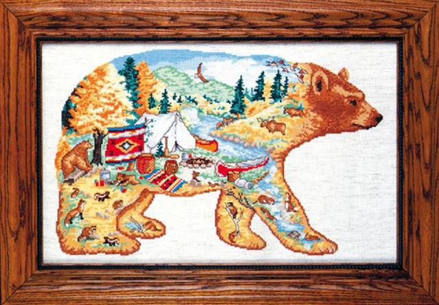 click here to view larger image of Bear Country (counted cross stitch kit)