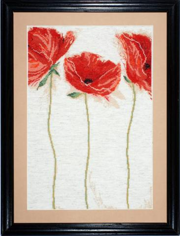 click here to view larger image of Flamenco Poppies (counted cross stitch kit)