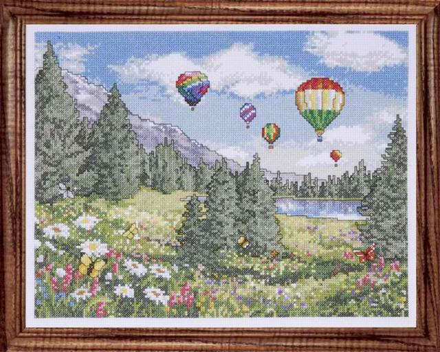 click here to view larger image of Balloon Sky (counted cross stitch kit)