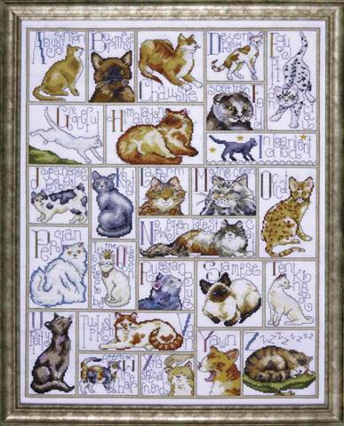 click here to view larger image of ABC Cats (counted cross stitch kit)
