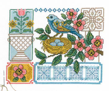 click here to view larger image of Blue Bird Floral (chart)