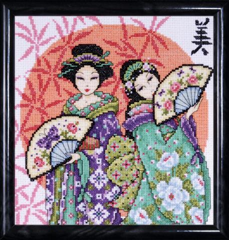 click here to view larger image of Two Geishas (counted cross stitch kit)