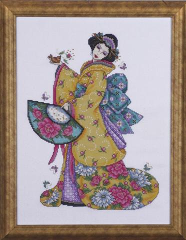 click here to view larger image of Golden Geisha (counted cross stitch kit)