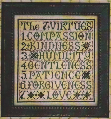 click here to view larger image of Seven Virtues (chart)