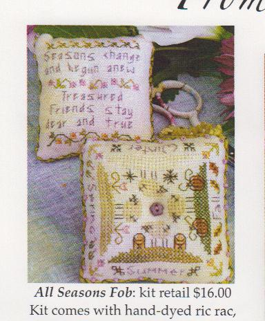 click here to view larger image of All Seasons Fob (counted cross stitch kit)
