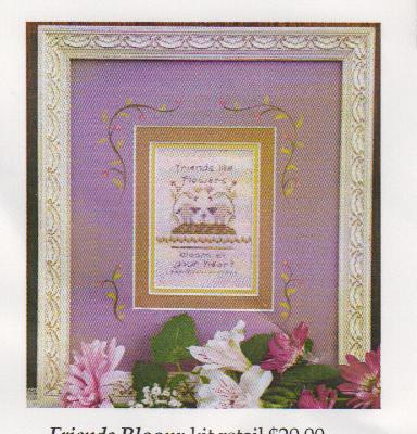 click here to view larger image of Friends Bloom (counted cross stitch kit)