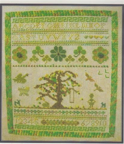 click here to view larger image of Sampler in Green (chart)