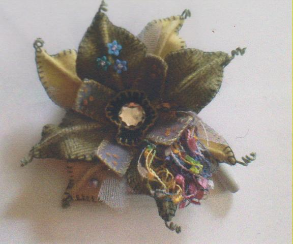 click here to view larger image of Funky Flower Pin (bead kit)