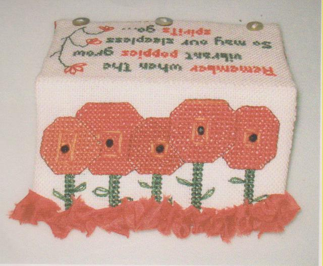 click here to view larger image of Remember The Poppies Case (counted cross stitch kit)