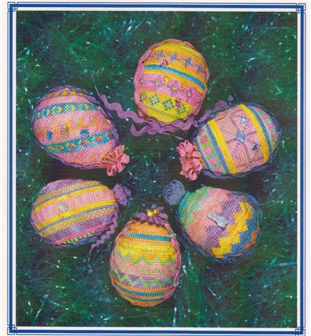 click here to view larger image of Fun and Funky Easter Eggs (counted canvas chart)