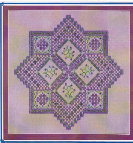 click here to view larger image of Sugared Violets Hardanger  (counted canvas chart)