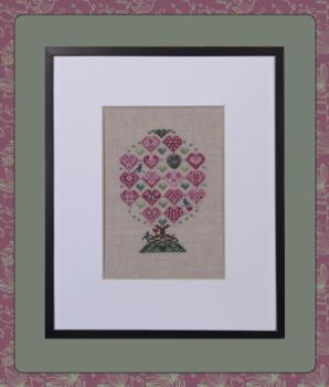 click here to view larger image of Love Birds Tree (chart with charms/buttons)