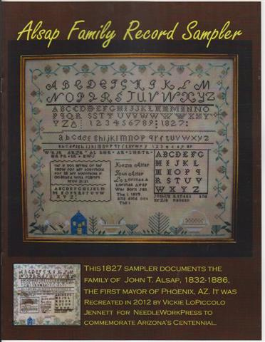 click here to view larger image of Alsap Family Record Sampler (chart)