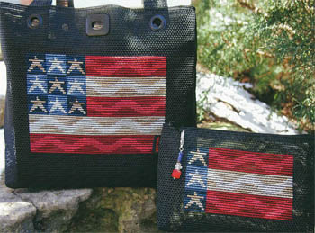 click here to view larger image of Fresh Mesh - Waving Flag Tote (chart)