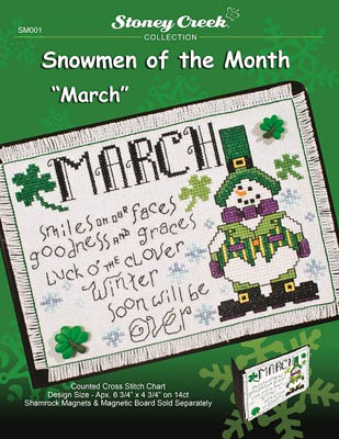 click here to view larger image of March - Snowmen of the Month (chart)